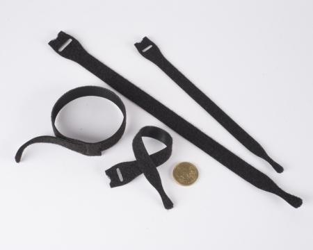 VELCRO® Klett-Kabelbinder 200mm schmal schwarz Rolle 25 Stück
