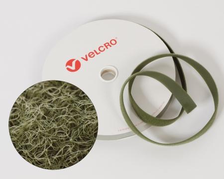 VELCRO®-Flauschband 20mm zum Aufnähen in Olivgrün/Military