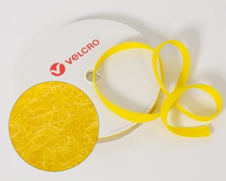 VELCRO®-Flauschband 25mm zum Aufnähen in Farbe Gelb