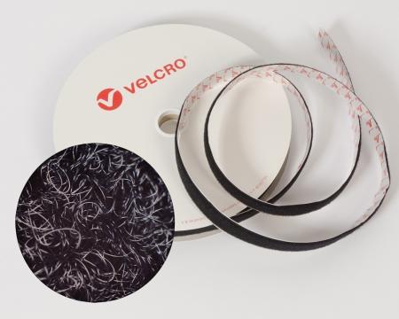VELCRO® Flauschband 10mm schwarz selbstklebend PS14