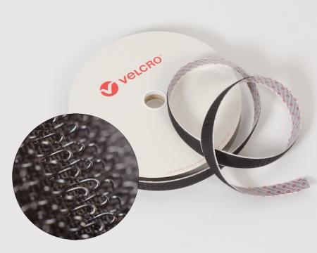 VELCRO® Hakenband 20mm schwarz selbstklebend PS18