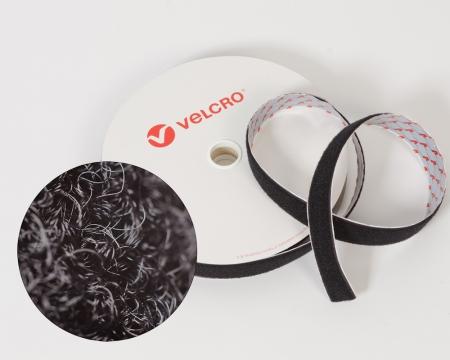 VELCRO® Flauschband 20mm schwarz selbstklebend PS18