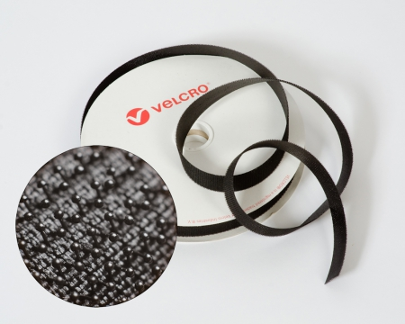 VELCRO®-Pilzkopfband VEL-LOC® 20mm schwarz zum Aufnähen