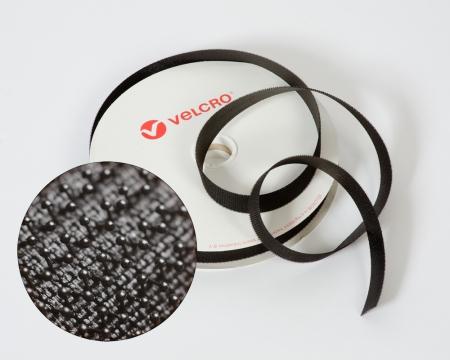 VELCRO®-Pilzkopfband VEL-LOC® 25mm schwarz zum Aufnähen