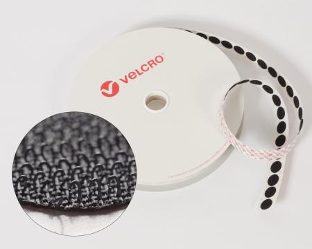 Rolle 100 St. VELCRO® 15mm Hakenpunkte selbstklebend schwarz