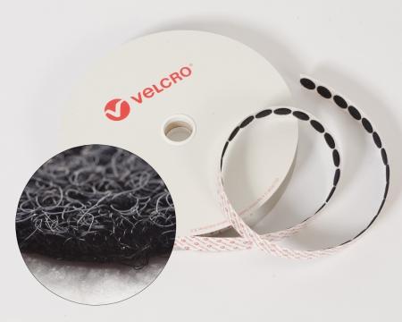 Rolle 100 St. VELCRO® 15mm Flauschpunkte selbstklebend schwarz