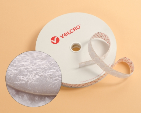 Rolle 1300 St. VELCRO® 15mm Flauschpunkte selbstklebend weiss