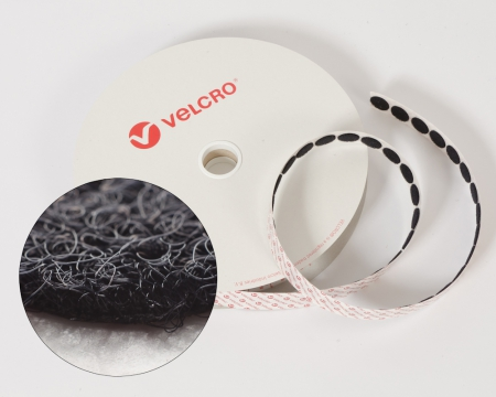 Rolle 1120St. VELCRO® 19mm Flauschpunkte selbstklebend schwarz