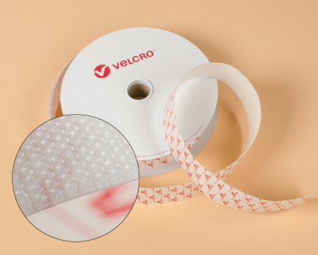 VELCRO® ULTRA-MATE® 20mm Mikrohaken -Band selbstklebend weiss