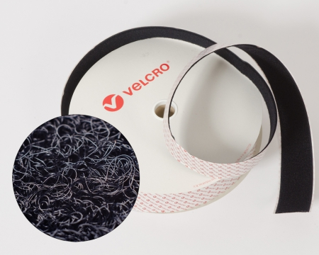 VELCRO®-Flauschband Heavy Duty 50mm selbstklebend schwarz